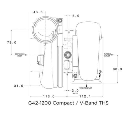 Flange diagram garrett g42 compact